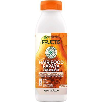GARNIER Fructis Hair Food Acondicionador de Papaya Reparadora para Pelo Dañado