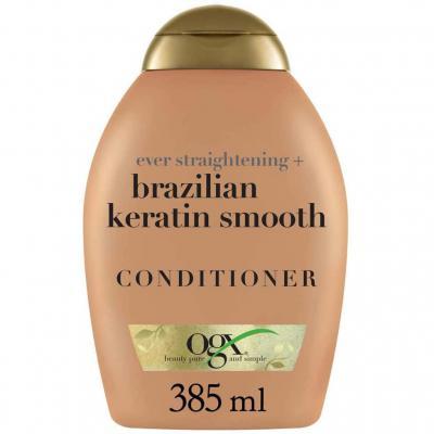OGX, Acondicionador Keratina Brasileña, Cabellos Ondulados o Rizados, 385 ml