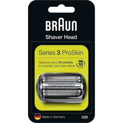 Braun Series 3 32B Cabezal de Recambio Negro para Afeitadora Eléctrica Hombre