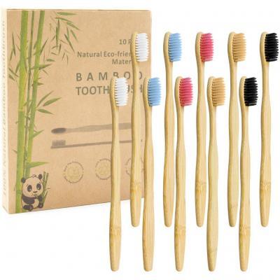 Cepillo de Dientes de Carbón de Bambú 10 PAQUETE
