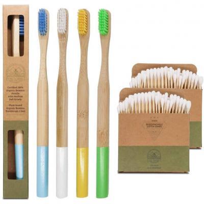 Cepillo de dientes de bambú ecológico y biodegradable