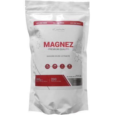 Wish Pharmaceutical Magnesium Citrate Citrato de Magnesio Paquete de 1 x 500g Una Forma Bien Absorbida de Magnesio Sin Sal de Azúcar y Almidón 200 Porciones