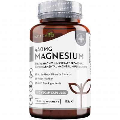 Citrato de Magnesio 1480 mg que Proporciona 440 mg Alta Dosis de Magnesio Elemental