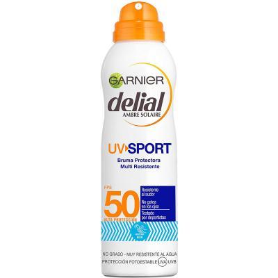 Garnier Delial UV Sport Bruma de Protección Solar para Cara y Cuerpo con SPF50
