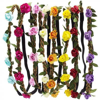 Hbf 8 Piezas Diademas De Flores