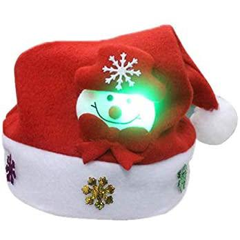 Kappha Sombreros Navideños Con Luz Led Gorro De Santa Gorro Navideño Papá Noel Fiesta De Navidad