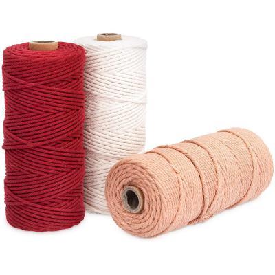 Navaris 3X Hilo de algodón para macramé