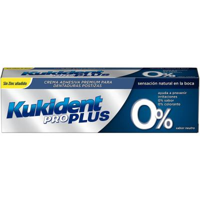 Kukident Plus 0% Adhesivo para prótesis dentales 40 g