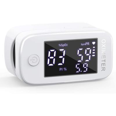 Oxímetro de dedo profesional KKmier Saturometer Oxímetro de pulso con pantalla LED Medición portátil de SpO2 PR PI para adultos Niños de edad avanzada