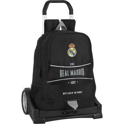 Safta Mochila Espalda Ergonómica con Carro Evolution de Real Madrid