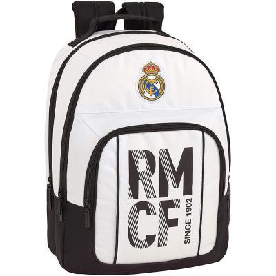 Real Madrid CF Equipaje para niños Mochila Grande Doble Adaptable a Carro