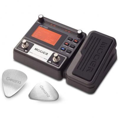 Mooer Guitar Effect Pedal ME GE 100 Dispositivo procesador de efectos múltiples con 2 púas de guitarra Getaria