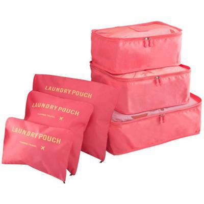 COOJA Set de 6 Travel Organizers 3 Packing Cubes + 3 Bolsas