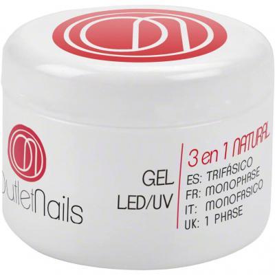 UV Gel Trifasico Natural 30ml para uñas de gel