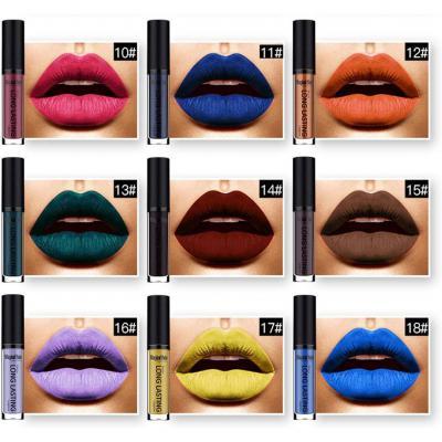 18 Colores Profesional Mate Pintalabios de Maquillaje Larga Duracion para Niñas por ESAILQ F