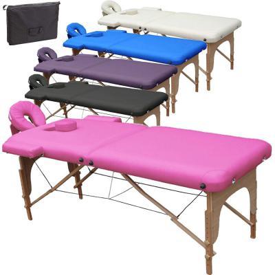 Beltom Camilla de Masaje 2 Zonas portatil Mesa Cama Banco Plegable Reiki Fsioterapeuta