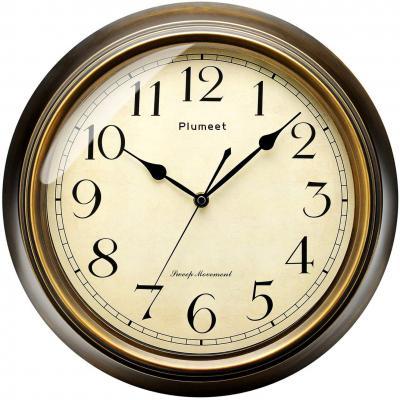 Plumeet Reloj de Pared Retro Grande