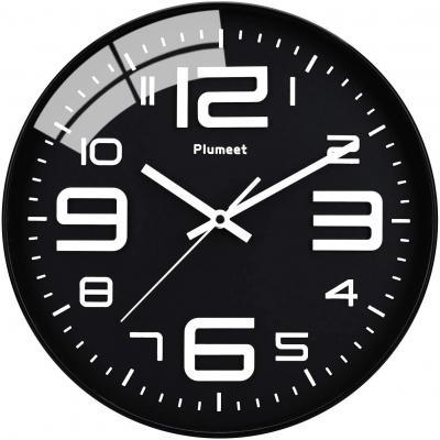Plumeet Reloj De Pared Silencioso