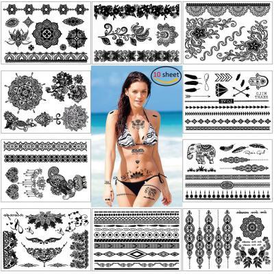 Konsait Falsos Joyas Tatuaje Temporal Impermeable Arte Corporal Tatuajes Adhesivos